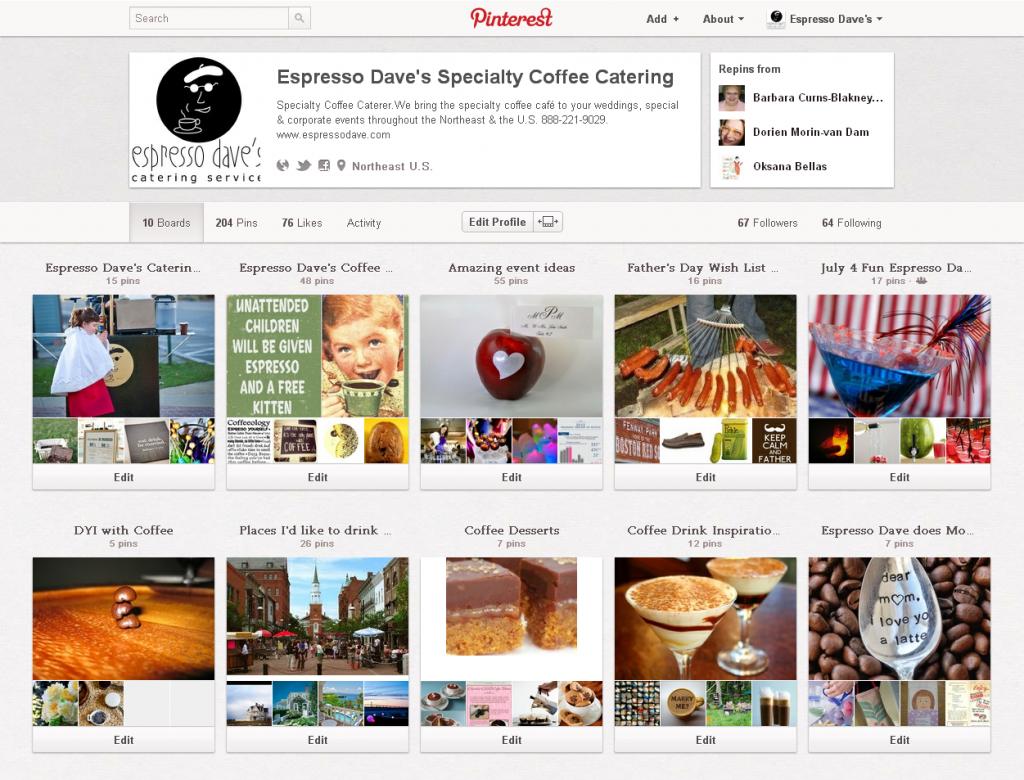 Espresso Dave's Coffee Catering (espressodave) on Pinterest