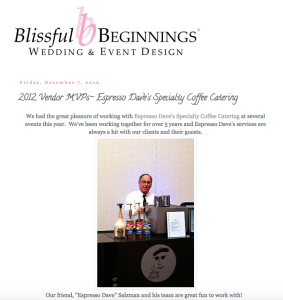 Espresso Dave MVP Weddings
