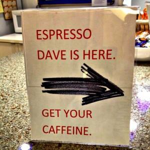 Direct. To the point. #staycaffeinated #espressodave #coffeecateringboston espressocartboston #eventprofsboston #meetingplannersboston