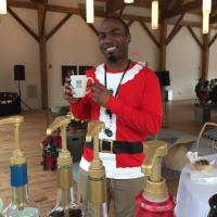 Santa's enjoying a Kris Kringle Mochaccino, Espresso Daves Coffee Catering Boston
