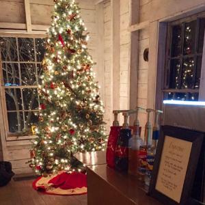 Christmas Wedding Espresso Dave Coffee Bar at Hardy Farm NH