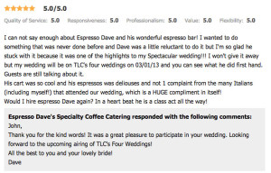 Wedding Coffee Catering Boston