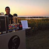 A beautiful sunset and your own personal barista by the sea. Espresso Dave's recipe for an amazing summer event, al fresco. #espressodave #espresso_dave #coffeecateringboston #coffeecateringnh