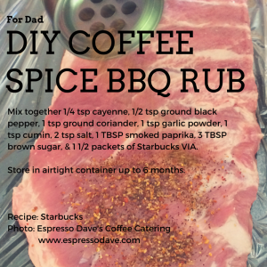 DIY Coffee Spice BBQ Rub