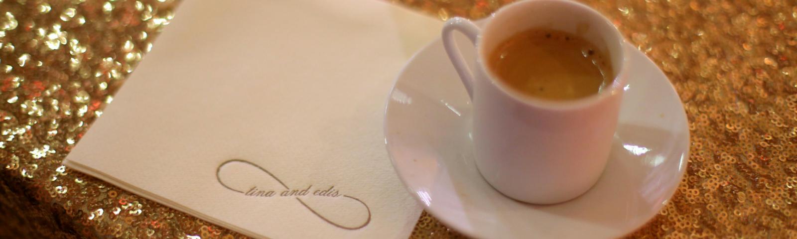 Glittering Espresso Dave Wedding Service