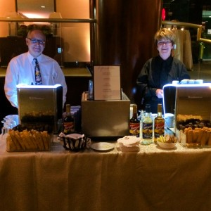 Espresso Dave and Barista Cathy at the Westin Waltham fundraiser