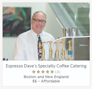 Espresso DAve Coffee Catering The Knot