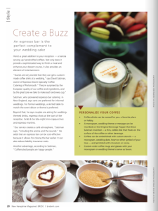 Create a buzz at your wedding with Espresso Daves