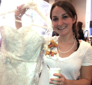 Happy Bride to Be at Bridal Show Espresso Dave