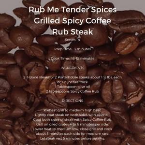 Espresso Dave BBQ Rub Me Tender Spices Grilled Spicy Coffee Steak