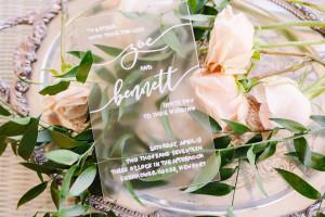Yes Way Rose Styled Wedding Shoot invitation