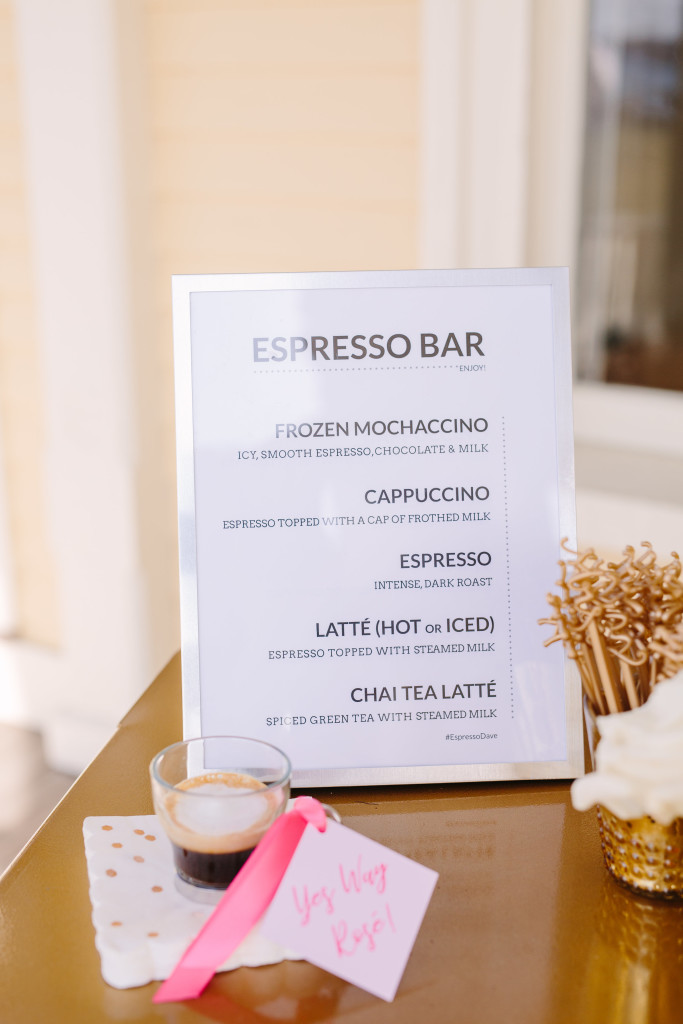 The Newport Bride's Yes Way Rose Styled Wedding Shoot with Espresso Dave's Coffee Catering menu