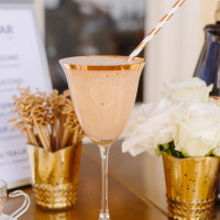 The Newport Bride's Yes Way Rose Styled Wedding Shoot with Espresso Dave's Coffee Catering frozen mochaccino goblet PC: Sarah Pudlo Photography