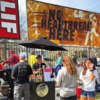 Espresso Dave coffee bar at Boston Marathon with Clif Bar 2017