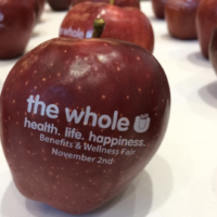 Dunkin' Donuts Employee Wellness Kickoff with Fun to Eat Fruit