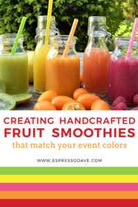 Fruit smoothies are a fantastic summer treat for all to enjoy. For big fun, how about creating handcrafted, fruit smoothies that match the colors of your event? To learn more about how Boston's Espresso Dave's Catering does this, check out our latest blog post! www.espressodave.com! #summertreat #smoothiebar #bostonevents #summereventidea #fruitsmoothies #espressodave #summerparty