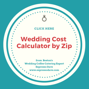 Tip: To see what a wedding in your locale will cost, click on www.costofwedding.com, add your zip code, and you'll get a pretty good estimate to use for planning!