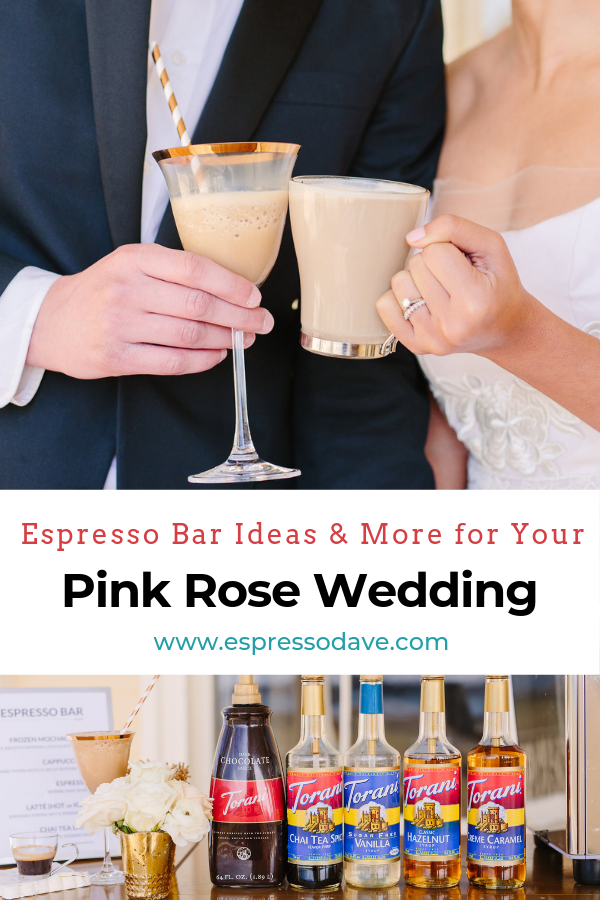 If you're a newly engaged bride-to-be looking for wedding ideas for your traditional pink rose wedding, check out our Yes Way Pink Rose Wedding featuring an Espresso Dave Coffee Bar and more! Design by The Newport Bride. Photos by Sarah Pudlo Photography. www.espressodave.com #wedding #pinkwedding #rosewedding #weddingideas #bridetobe #coffeebar #boston #newportri