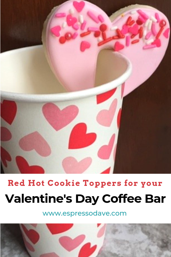 Take it from Cupid, these red hot cookie toppers are an irresistible way to show your Valentine's Day party guests some extra love! Click here to read about Boston's Espresso Dave's Coffee Catering suggestions to use with a coffee bar. www.espressodave.com Cookie Toppers by The Baker's Rack. #ValentinesDay #Valentines #coffeebar #Boston #valentinesdaytreats #galentines #galentinesday