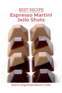 Looking for fun ideas for your holiday party or New Year's Eve celebration? Espresso Dave Coffee Catering of Boston shares his favorite recipe for Espresso Martini Jello Shots! Click here for the details. www.espressodave.com #christmasparty #christmaspartyideas #newyearseveparty #newyearsevepartyideas #espressobar #espressomartini #jelloshots #partyideas #martinirecipes