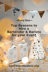 Looking for ideas for your party, Christmas or New Year's Eve celebration? Read why Espresso Dave Coffee Catering of Boston recommends hiring a bartender and coffee caterer for your party! Hint: Espresso Martinis! Click for details and 2 recipes! www.espressodave.com #christmasparty #christmaspartyideas #newyearseveparty #newyearsevepartyideas #espressobar #espressomartini #partyideas