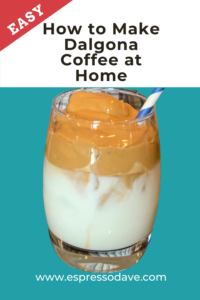 Make Dalgona Whipped Coffee right in your very own kitchen! It's easy! All you need is 5 minutes and 5 handy ingredients! Boston's #1 coffee caterer, Espresso Dave, shows you how, step-by-step. Click for the recipe! www.espressodave.com #Dalgona #coffee #icedcoffee #whipped #dalgonacoffeerecipe #drinkrecipe #recipe
