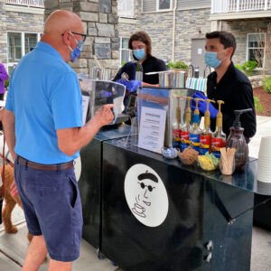 Boston's Espresso Dave Coffee Catering service adheres to Covid-19 prevention procedures and guidelines.