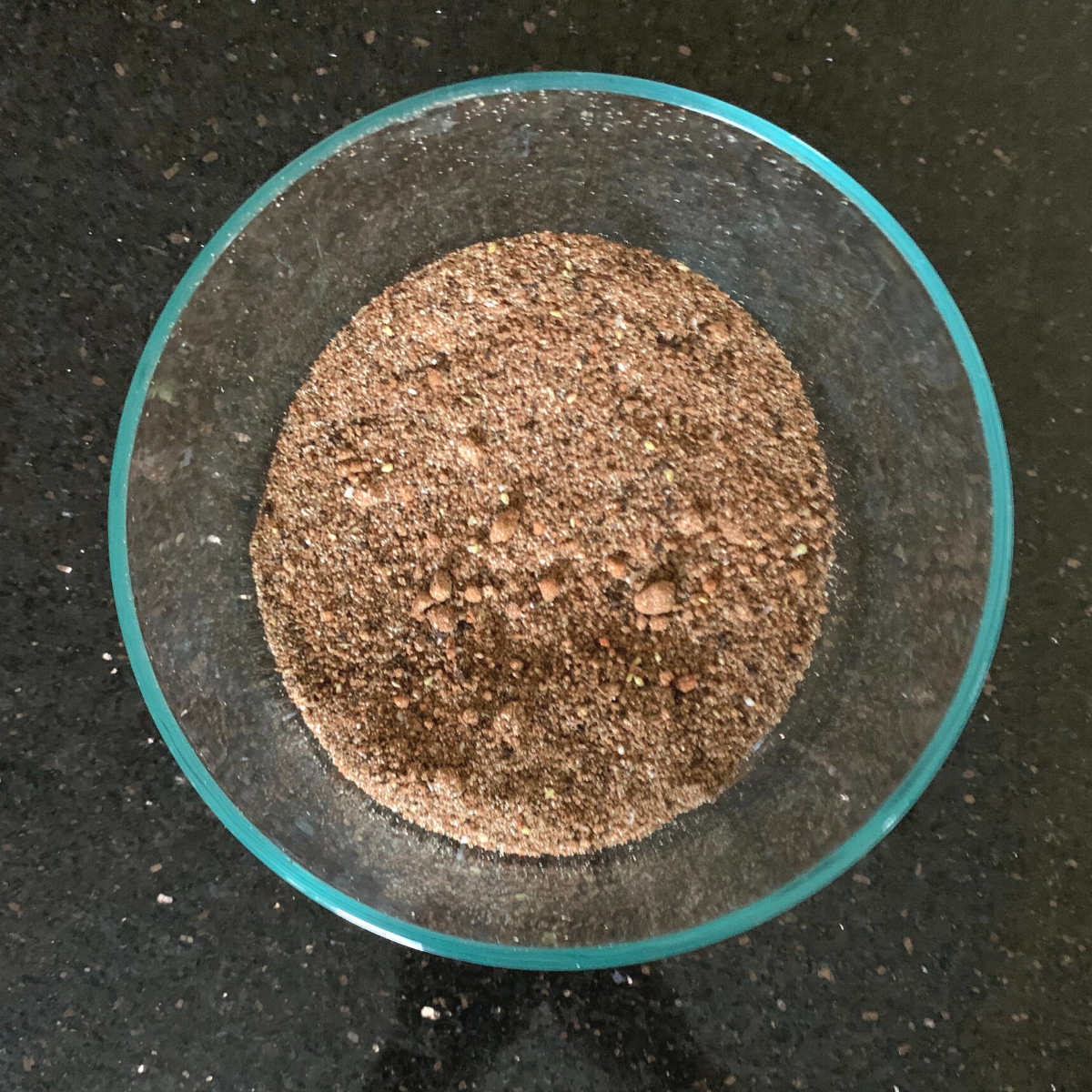 Espresso Dave's Coffee Spice Dry Rub after mixing