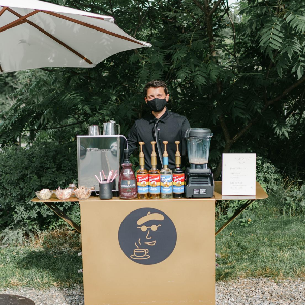 Getting married? Consider an espresso bar service like Boston's Espresso Dave. Read the latest from Espresso Dave Coffee Catering about creating a magical rustic summer micro wedding! www.espressodave.com Photo: Rachel Campbell Photography.