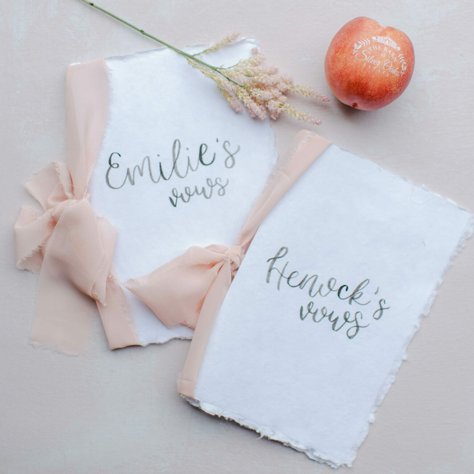 Wedding Vows and Branded Fun to Eat Fruit Wedding Favors Photo: Rachel Campbell Photography