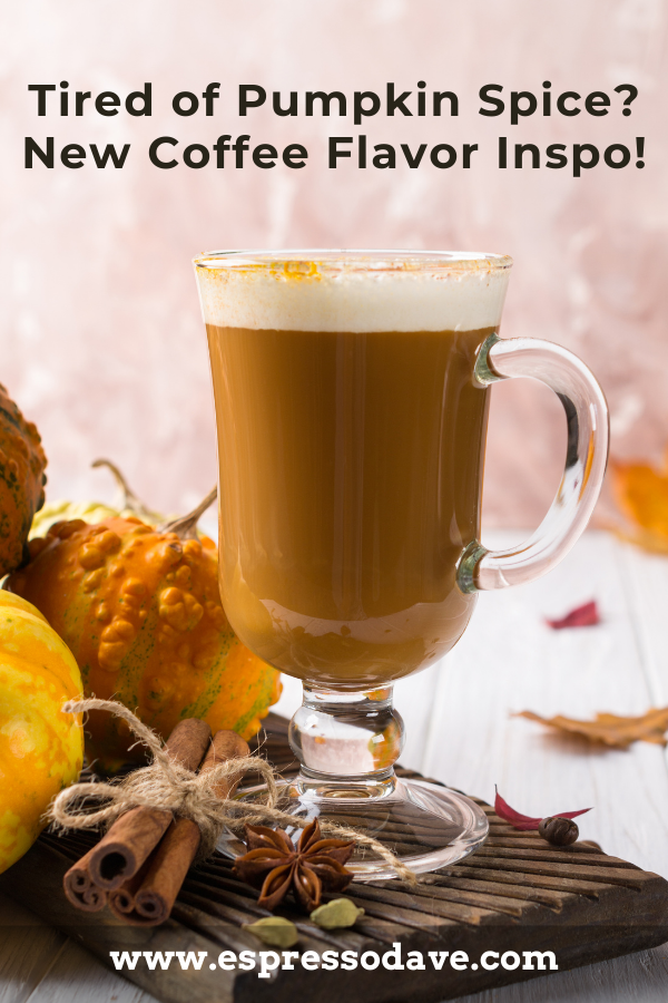 Tired of Pumpkin Spice? Get inspiration for fun Fall coffee bar flavors from Boston's Espresso Dave! From pumpkin spice to maple crunch! Click to see how to spice up your fall coffee bar! www.espressodave.com