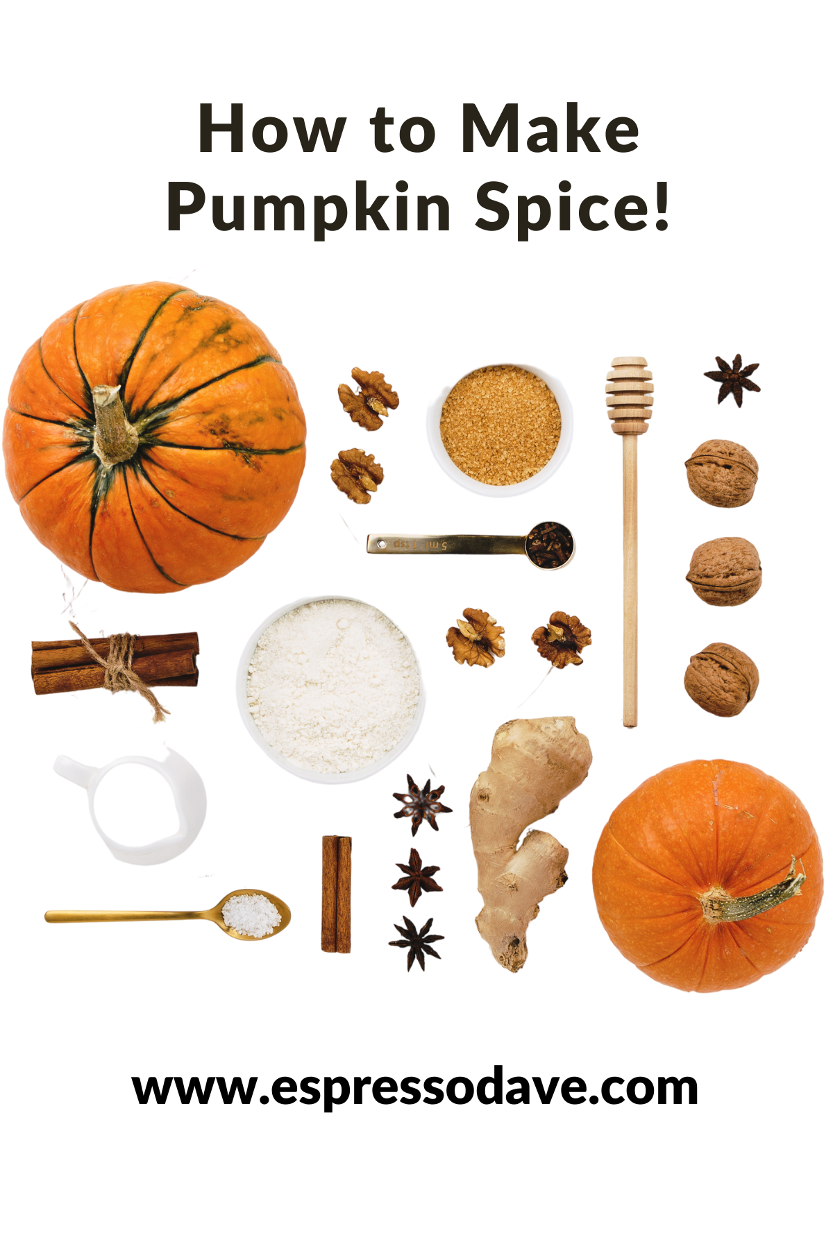 Make your own fresh Pumpkin Spice Blend! Check out this super easy DIY recipe from Boston's Espresso Dave Coffee Catering! www.espressodave.com
