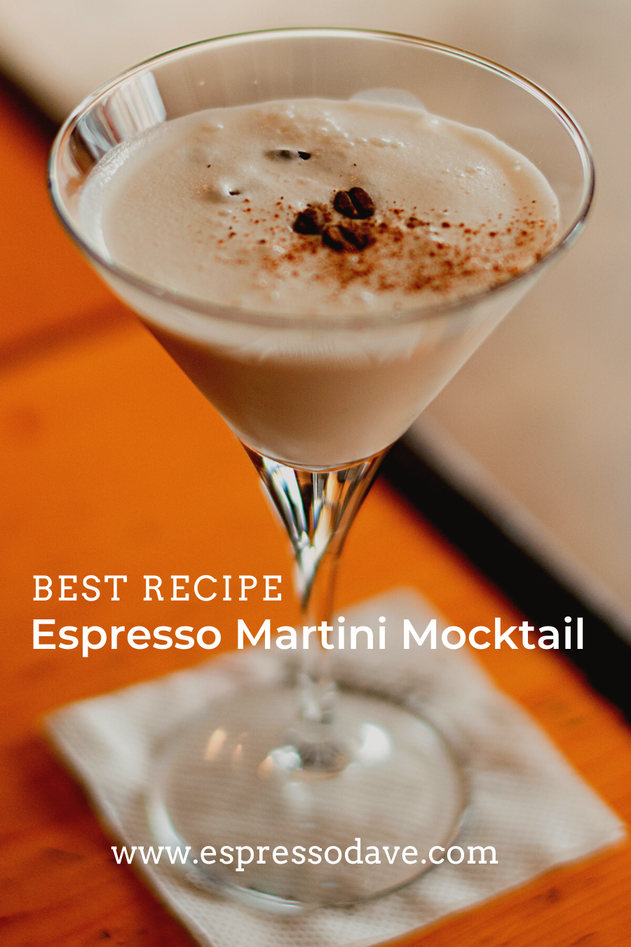 Boston's Espresso Dave Coffee Catering shares his favorite espresso martini mocktail recipe! Three ingredients is all you need for this creamy coffee beverage for Christmas, New Year's Eve or winter seasonal favorite! Click for this delicious coffee drink recipe! www.espressodave.com